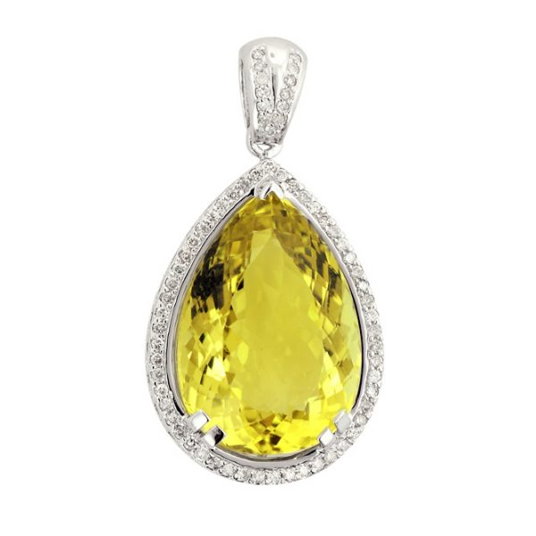 Pushkaraj Diamond Pendant