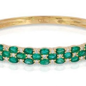 Emerald Diamond Bangle
