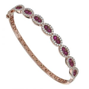 Ruby Diamond Bangle