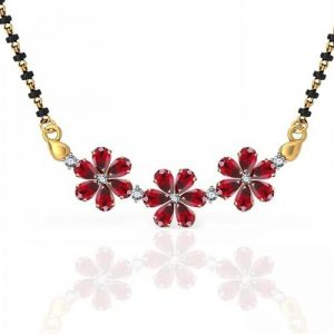Ruby with Diamond Mangalsutra
